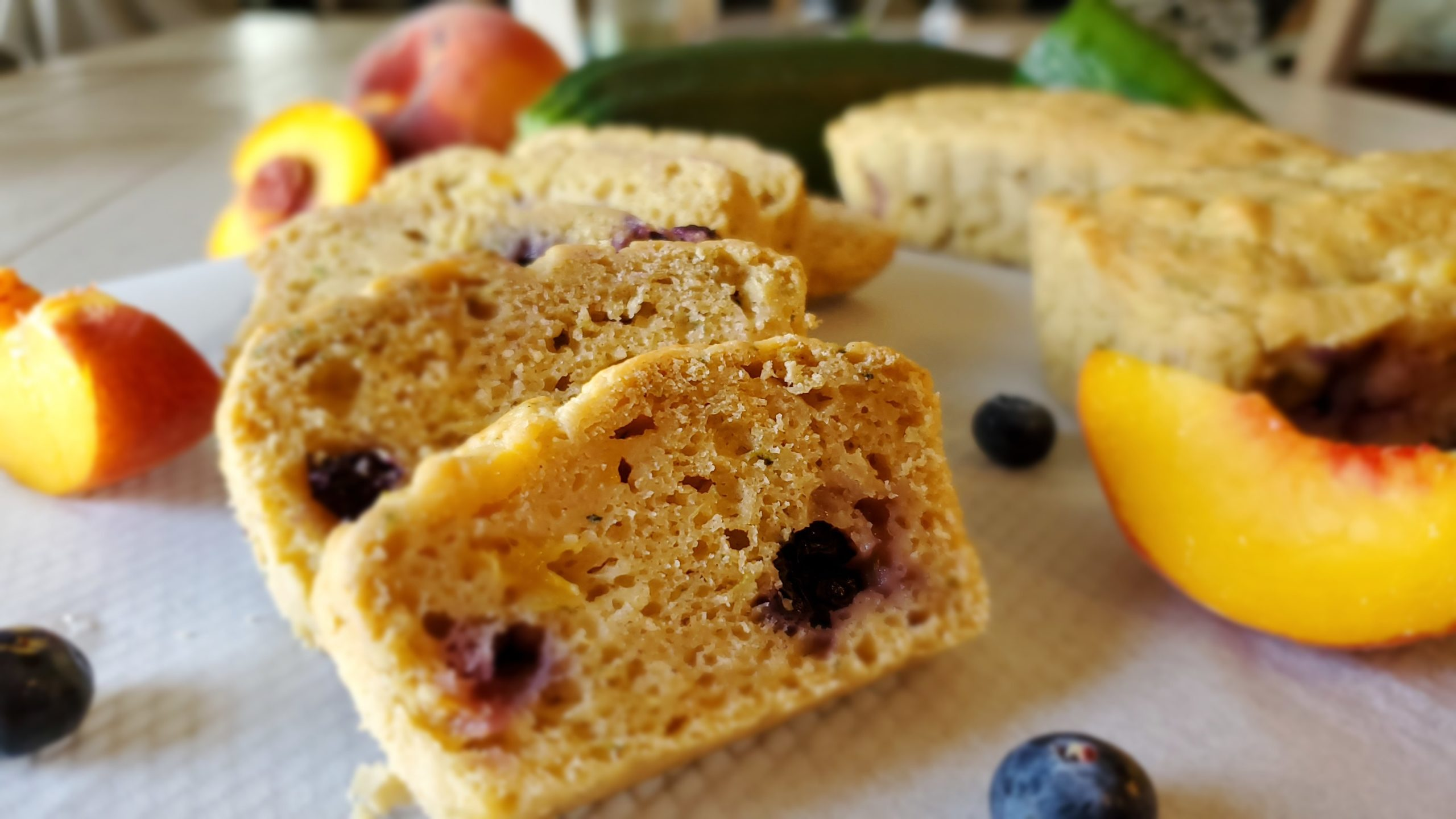 Peach Berry Zucchini Bread