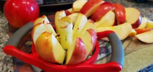 apple slices for applesauce